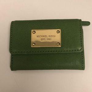 Green Michael Kors Wallet